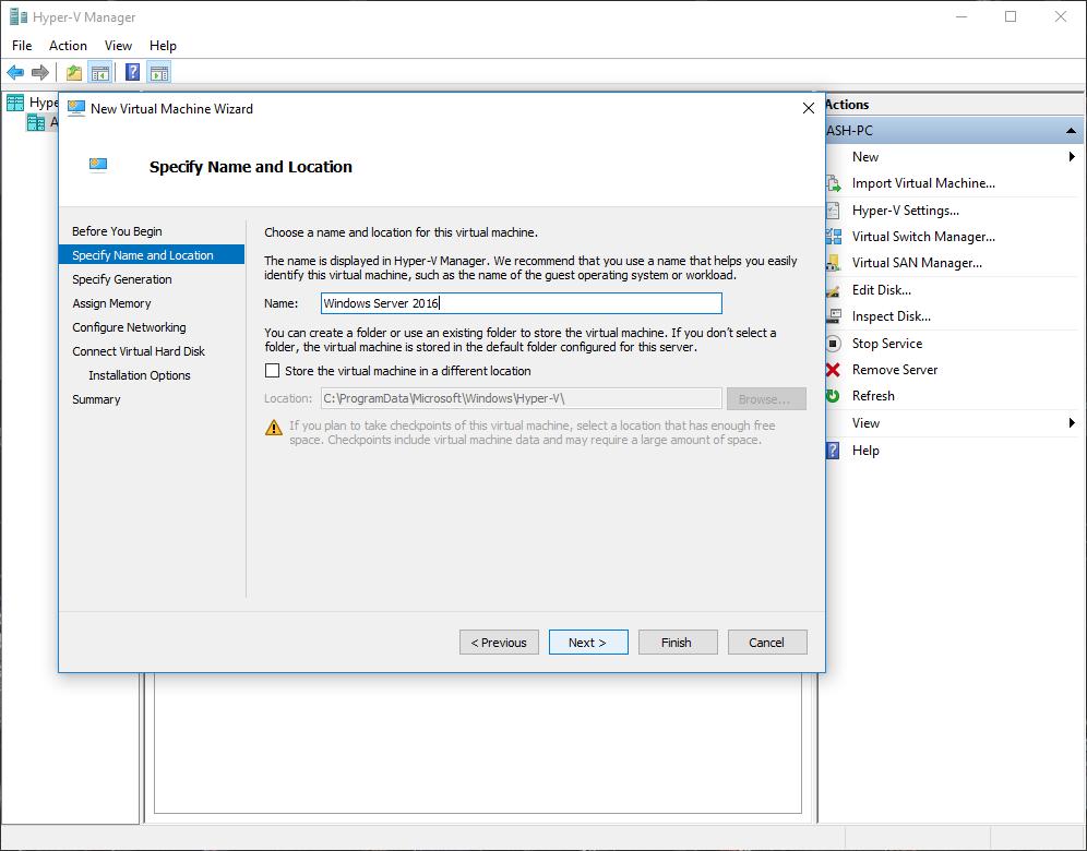 Installing Windows Server 2016 in Hyper-V • God Damn PC
