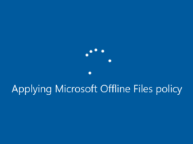 "Long delay on startup – ""Applying Microsoft Offline Files Policy"" hangs on startup"